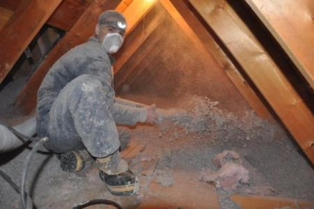 Batt insulation in the attic is typically less effective than cellulose
