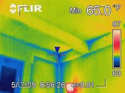Air leakage in a post and beam house.
